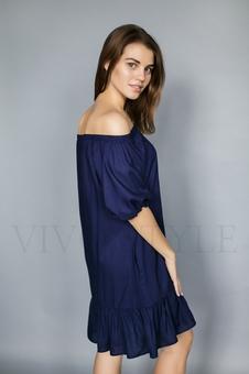 Женское платье с оголенными плечами 20236-9