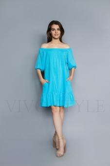 Женское платье с оголенными плечами 20236-11