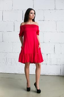 Женское платье с оголенными плечами 20236-1