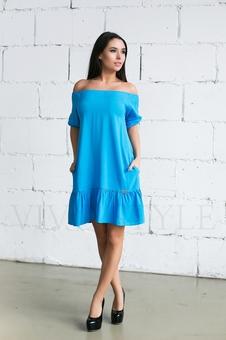 Женское платье с оголенными плечами 20236-2
