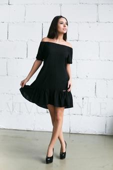 Женское платье с оголенными плечами 20236-6