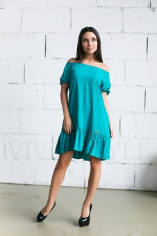 Женское платье с оголенными плечами 20236-7