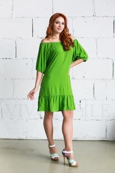 Женское платье с оголенными плечами 20236-8