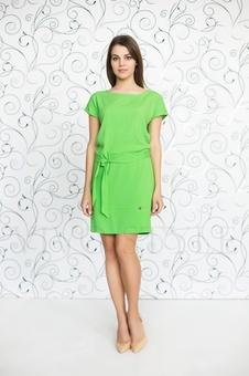 Прямое платье с поясом 20246-1