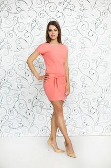 Прямое платье с поясом 20246-3