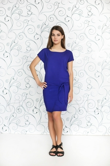 Прямое платье с поясом 20246-2