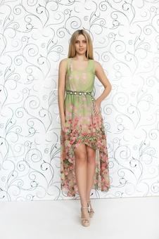 Необычное летнее платье 20252-3
