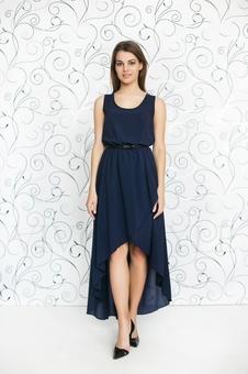 Необычное летнее платье 20252-7