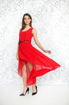 Необычное летнее платье 20252-8
