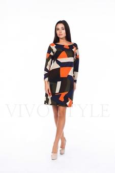 Женское платье с оригинальным рисунком 20263-1