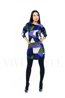 Женское платье с оригинальным рисунком 20263-3