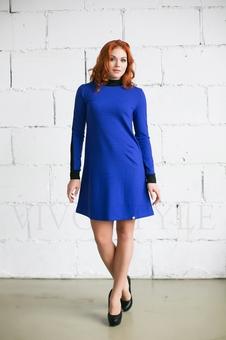 Двухцветное женское платье 20266-1