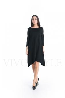 Лаконичное однотонное платье 20267-1
