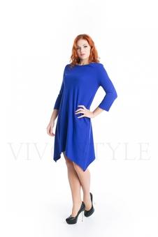 Лаконичное однотонное платье 20267-2