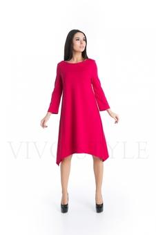 Лаконичное однотонное платье 20267-3