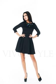 Повседневное черное платье 20271-2