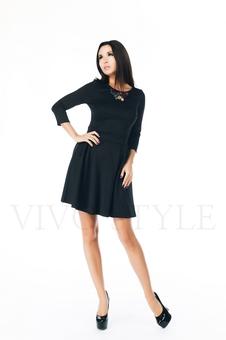 Повседневное черное платье 20271-3