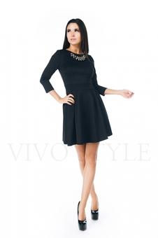 Повседневное черное платье 20271-4