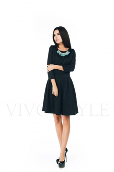 Повседневное черное платье 20271-5