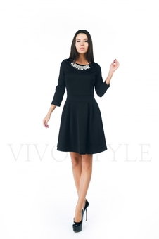 Повседневное черное платье 20271-7