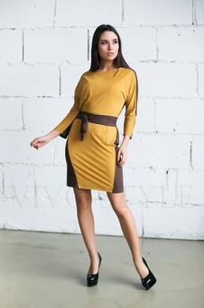 Платье женское с поясом 20276-3