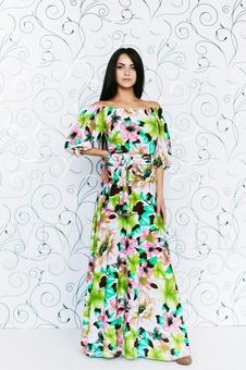 Платье макси с принтом 20282-1