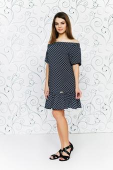 Прямое платье с открытыми плечами 20283-1