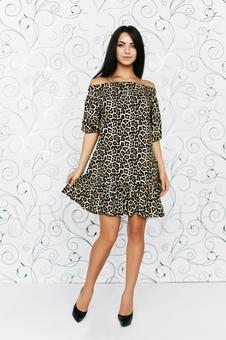 Прямое платье с открытыми плечами 20283-3