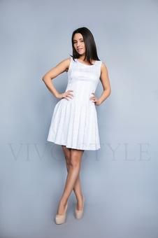 Молодежное платье из фактурной ткани 20284-4