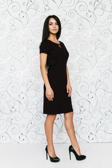 Офисное платье с коротким рукавом 20286-2
