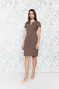 Офисное платье с коротким рукавом 20286-3