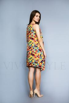 Женское платье с фигурным низом 20296-1