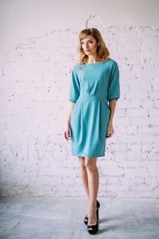 Женское платье с отрезной талией 20304-2