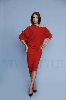 Женское объемное платье 20317-10