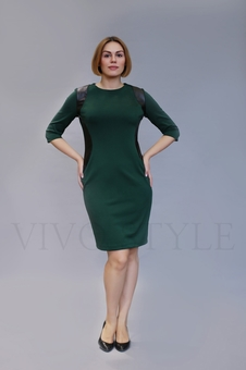 Платье с рукавом три четверти 20331-3