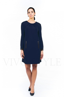 Платье с драпировкой по горловине 20527-3