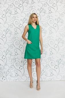 Практичное повседневноеплатье лён 20549-5