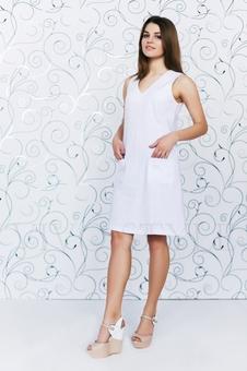 Практичное повседневноеплатье лён 20549-7