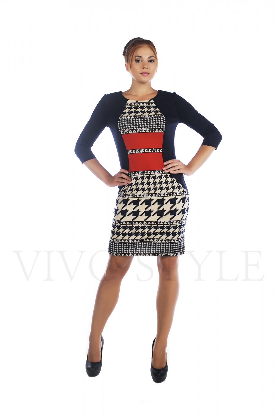 Осеннее женское платье в больших размерах