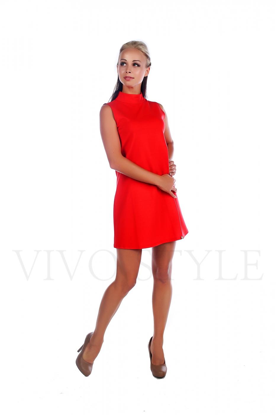 Платье молодежное однотонное