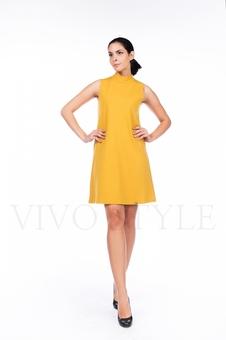 Платье молодежное однотонное 20554-6