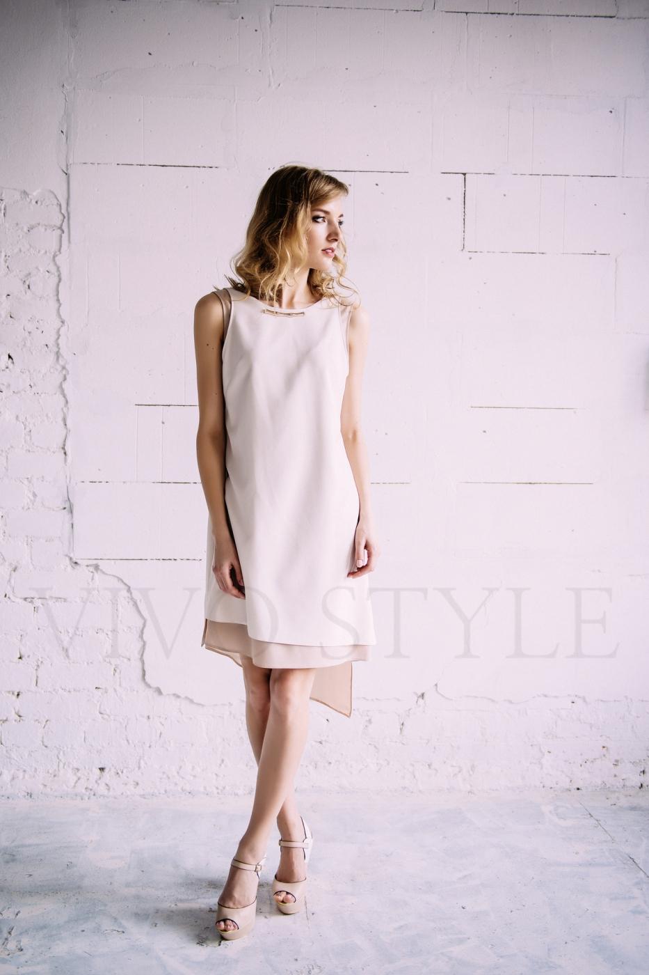 Двухслойное женское платье