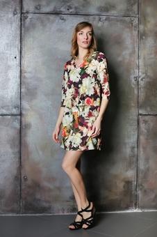 Женское короткое платье с принтом 20604-5