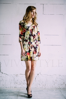 Платье с рукавом три четверти