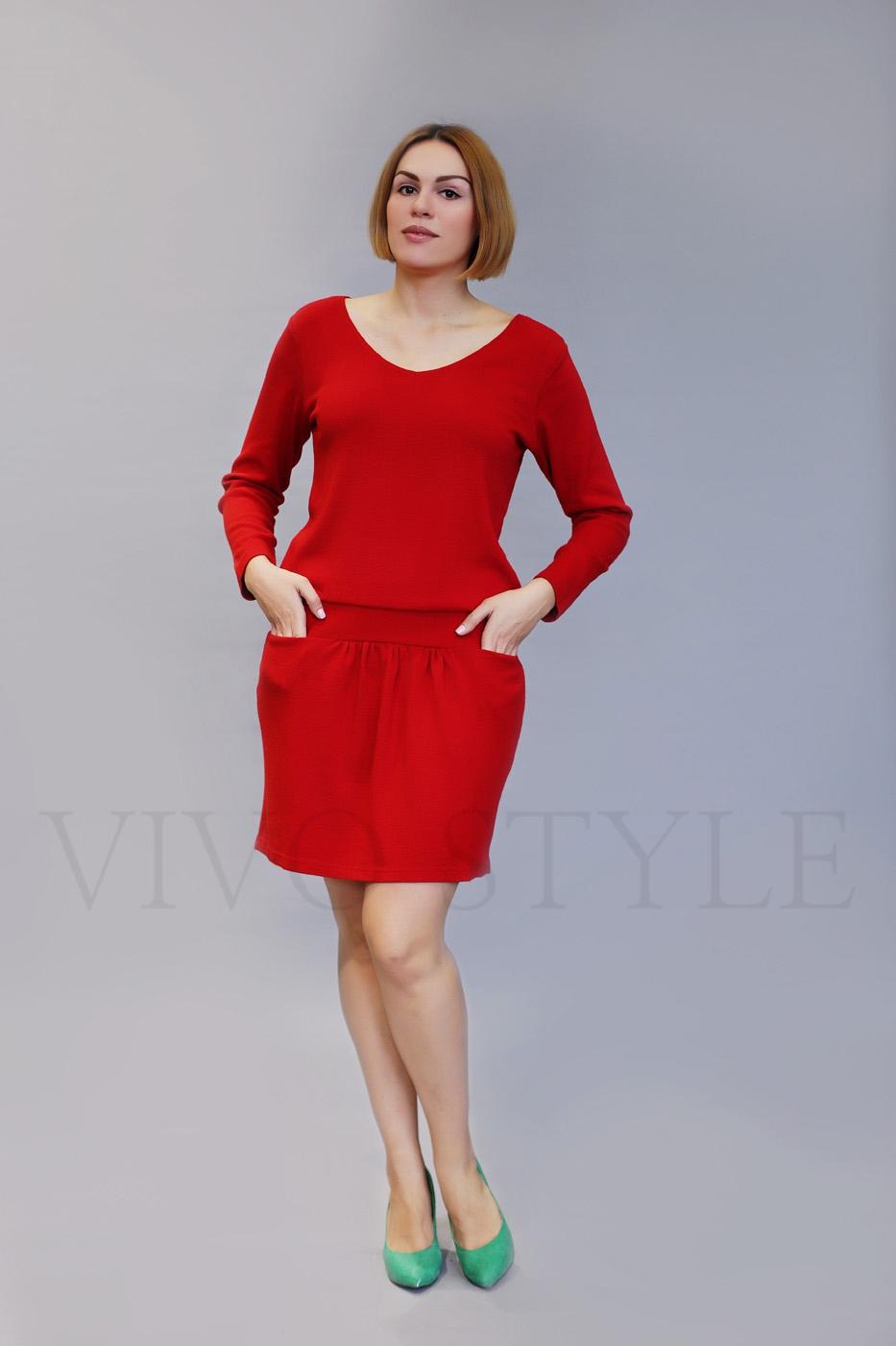 Женское платье из мягкого трикотажа