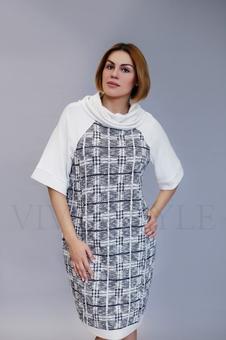 Платье с воротником хомут