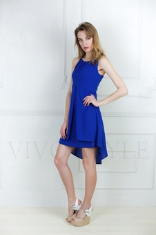 Летнее женское платье с отрезным лифом 20614-6