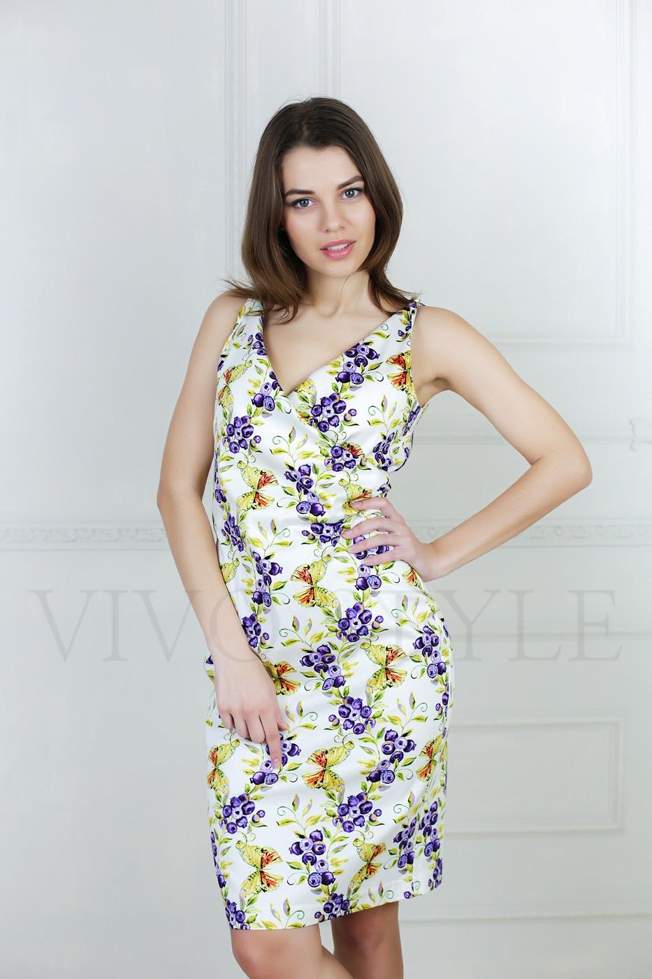 летнее платье с красивой расцветкой