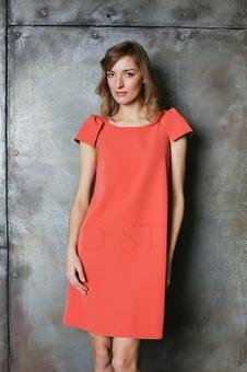 Лаконичное платье из гладкоокрашенной ткани 20630-7