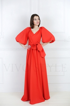 Элегантное женское платье с поясом 20641K-1